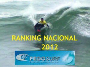 Ranking República Dominicana 2012 Surf, Bodyboard, Longboard