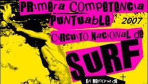 1ra Competencia Puntuable Playa Puntilla Puerto Plata 2007, federación dominicana de surfing