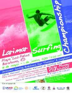 Larimar Surfing Championship Playa Los Patos Barahona
