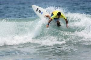 Surfer Robbie Reid ISA World Master Surfing Championship 2013
