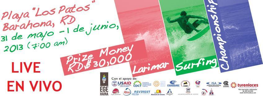 En Vivo Larimar Surf Championship FEDOSURF 2013