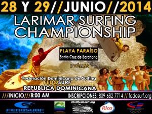 Poster Larimar Surfing Championship 2014
