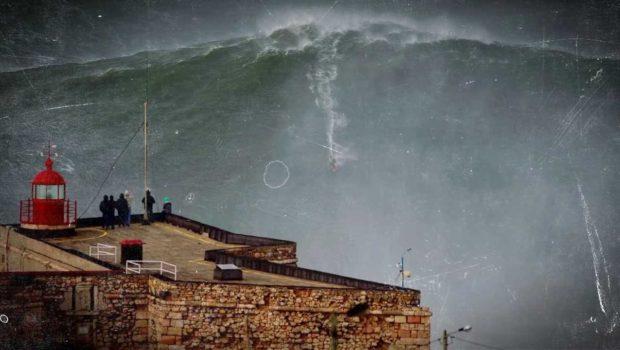 Nazaré olas gigantes en portugal